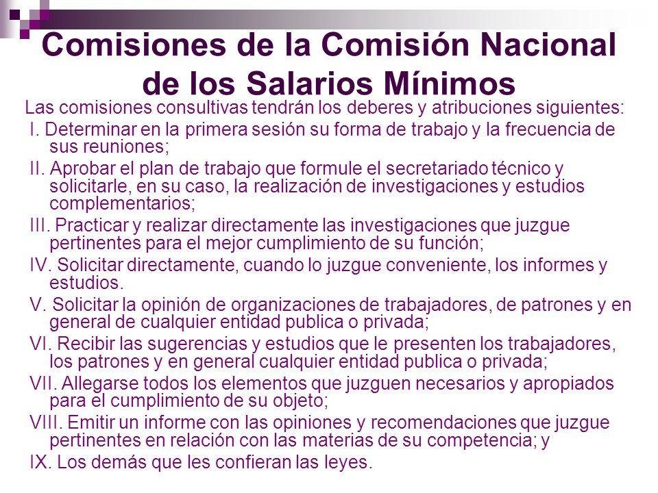 Procedimiento ante la Comisión Nacional de los Salarios Mínimos Los salarios mínimos se fijaran cada año y comenzaran a regir el primero de enero del año siguiente.