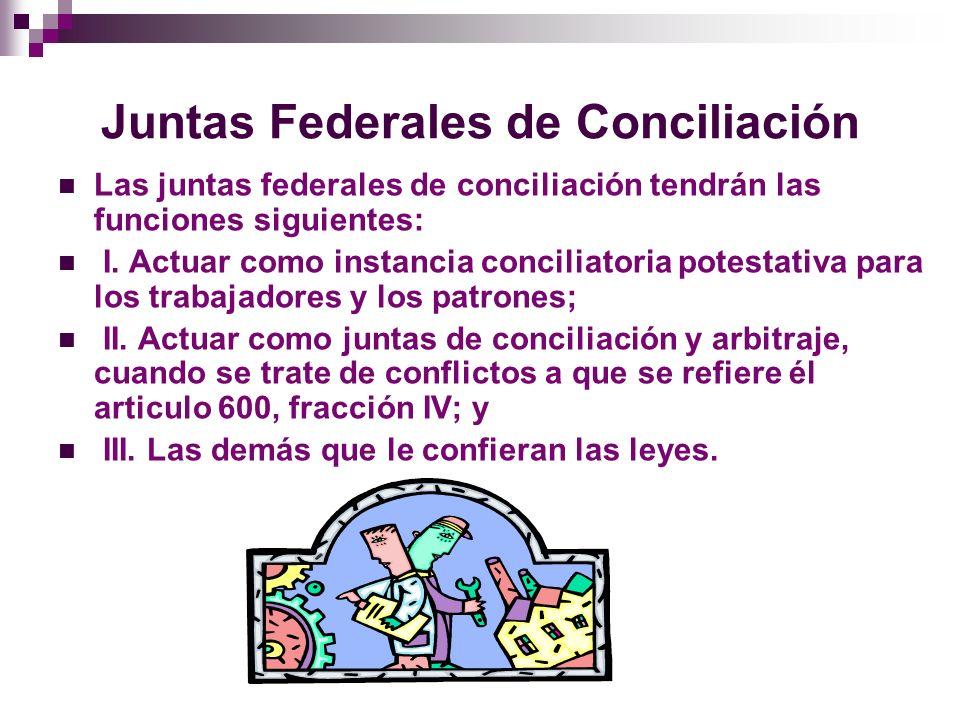 Juntas Locales de Conciliación En las entidades federativas funcionaran juntas locales de conciliación, que se instalaran en los municipios o zonas económicas que determine el gobernador.