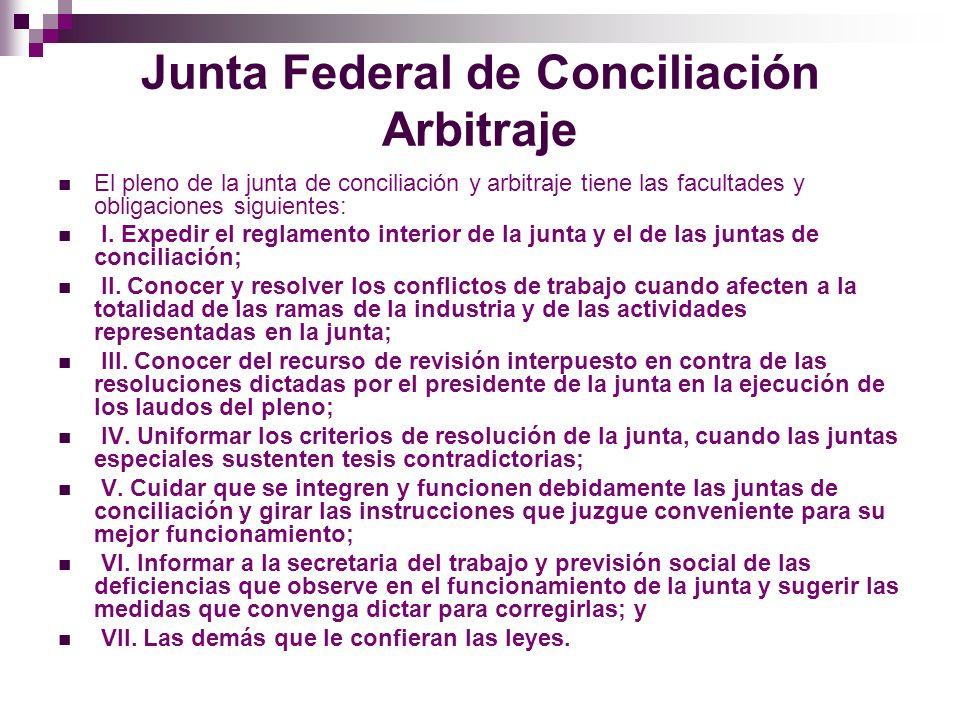 Juntas Locales de Conciliación y Arbitraje Las juntas locales de conciliación y arbitraje funcionarán en cada una de las entidades federativas.
