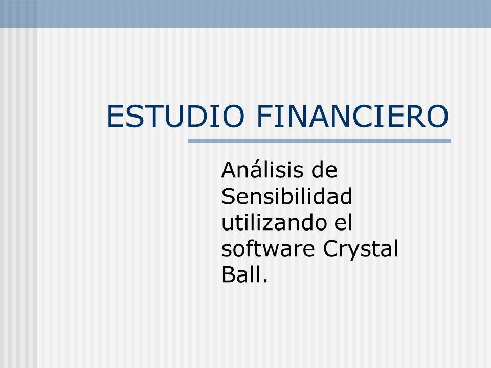 ESTUDIO FINANCIERO Análisis de Sensibilidad utilizando el software Crystal Ball.