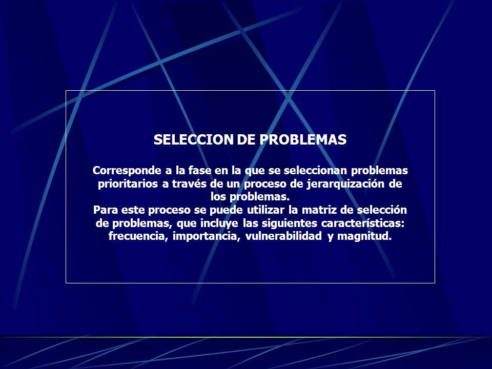 DESCRIPCION DE PROBLEMAS La descripción de problemas consiste en determinar las características de cada problema, ¿Cómo es que sabemos que existen?, ¿
