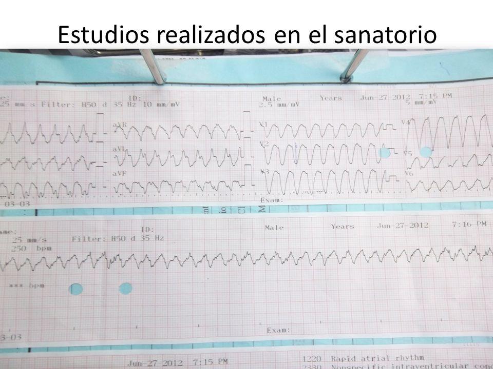 Estudios realizados en el sanatorio