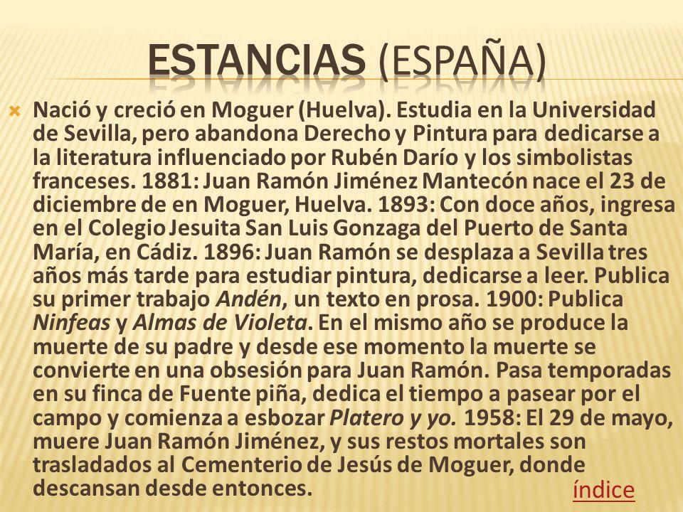 Nació y creció en Moguer (Huelva). Estudia en la Universidad de Sevilla, pero abandona Derecho y Pintura para dedicarse a la literatura influenciado p