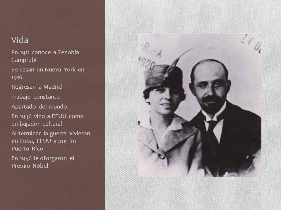 Algunas obrasobras Jardines lejanos (1904) Platero y yo (1914) Diario de un poeta recién casado (1917) Tiempo (1941) Espacio (1941-1954) Animal de fondo (1949)