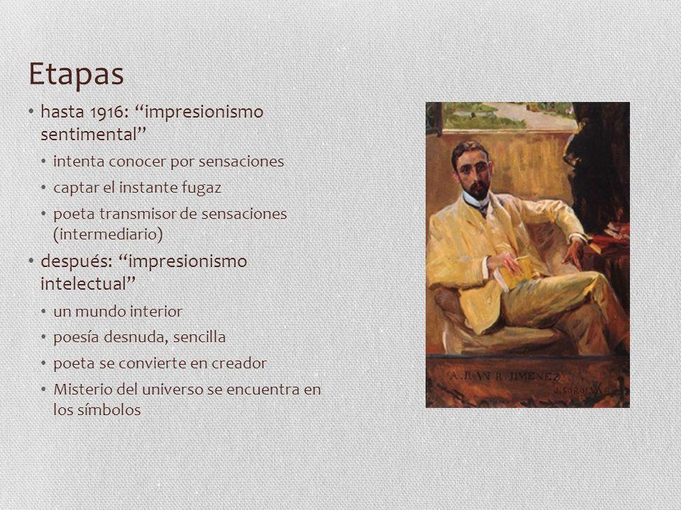 Elijan un poema de Juan Ramón Jiménez y comenten los rasgos modernistas que tiene.un poema FOROS