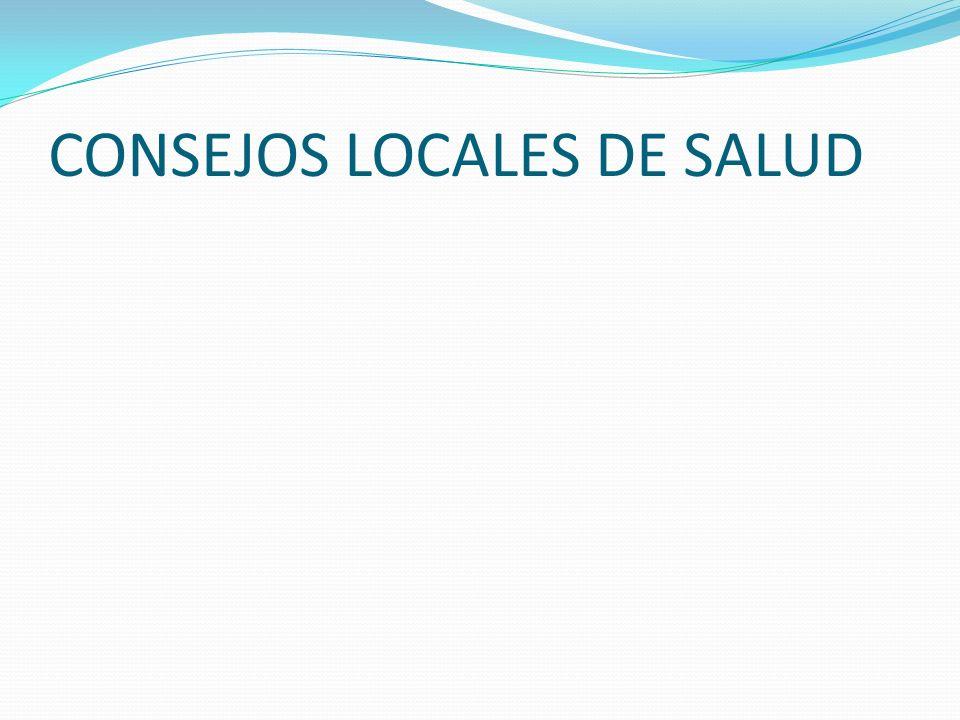 CONSEJOS LOCALES DE SALUD