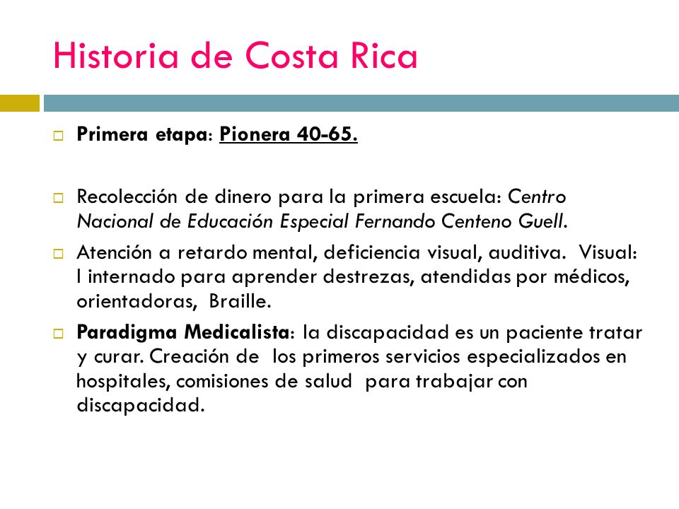 Segunda etapa: Desarrollo Conceptual de la Rehabilitación del 65 al 76 Costa Rica se encuentra en el apogeo del estado benefactor/sobre protector.