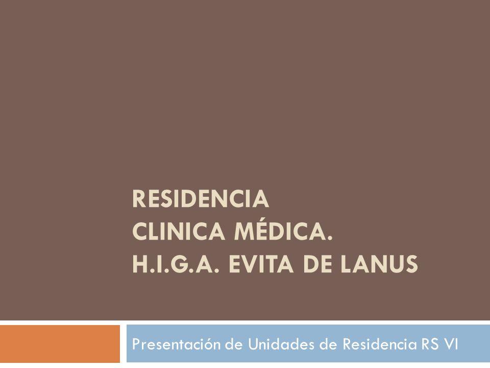 Presentación Las Residencias Médicas constituyen un sistema de capacitación intensiva en servicio, que permite completar la formación de los miembros del equipo de salud.