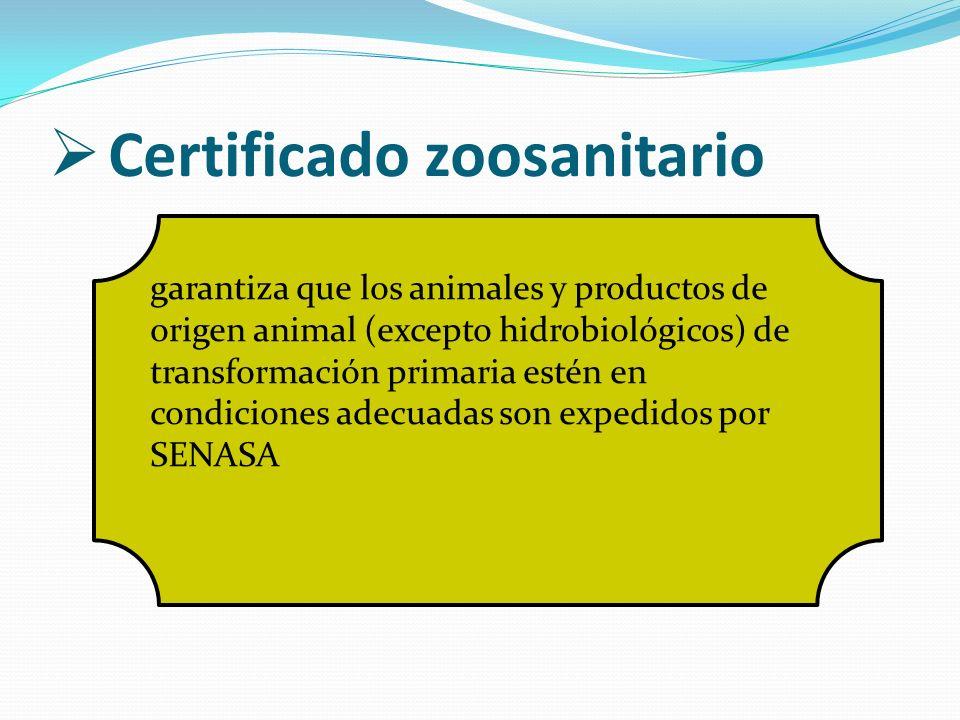 Certificado zoosanitario garantiza que los animales y productos de origen animal (excepto hidrobiológicos) de transformación primaria estén en condici