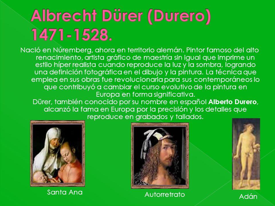 Nació en Núremberg, ahora en territorio alemán. Pintor famoso del alto renacimiento, artista gráfico de maestría sin igual que imprime un estilo híper