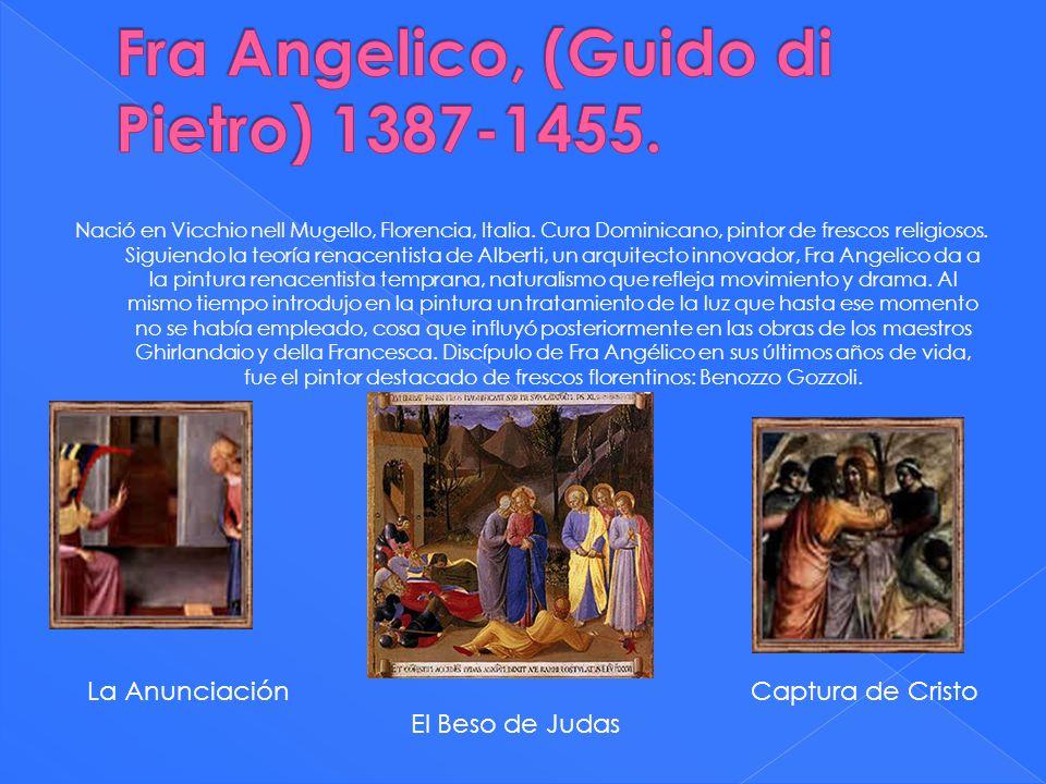 Nació en Vicchio nell Mugello, Florencia, Italia. Cura Dominicano, pintor de frescos religiosos. Siguiendo la teoría renacentista de Alberti, un arqui