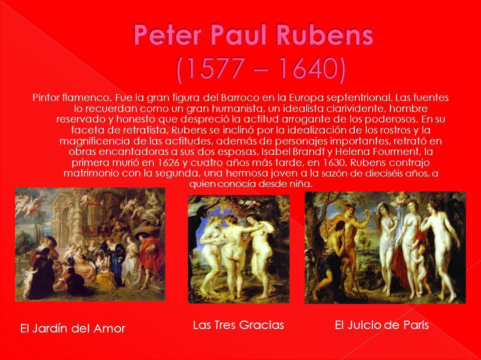 Pintor flamenco. Fue la gran figura del Barroco en la Europa septentrional. Las fuentes lo recuerdan como un gran humanista, un idealista clarividente