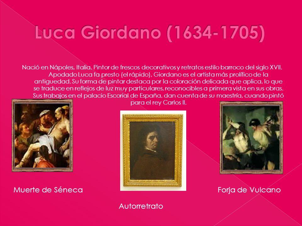 Nació en Nápoles, Italia. Pintor de frescos decorativos y retratos estilo barroco del siglo XVII. Apodado Luca fa presto (el rápido), Giordano es el a