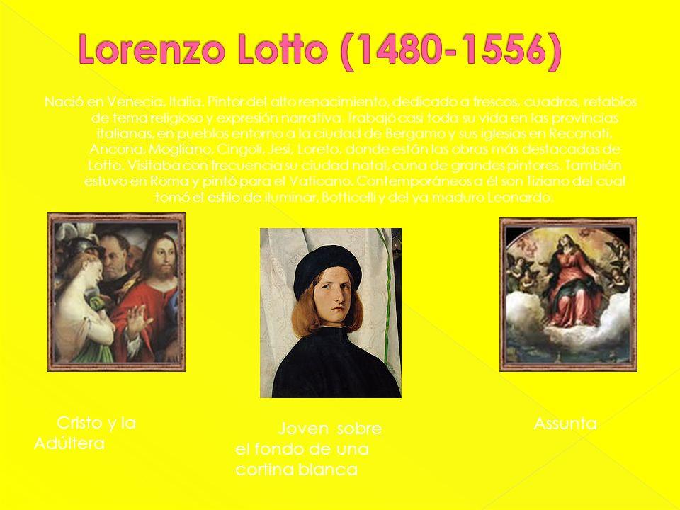 Nació en Venecia, Italia. Pintor del alto renacimiento, dedicado a frescos, cuadros, retablos de tema religioso y expresión narrativa. Trabajó casi to