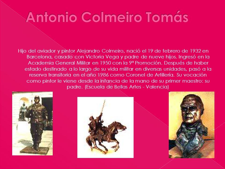 Hijo del aviador y pintor Alejandro Colmeiro, nació el 19 de febrero de 1932 en Barcelona, casado con Victoria Vega y padre de nueve hijos. Ingresó en