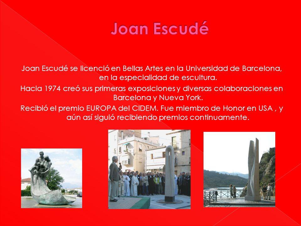 Joan Escudé se licenció en Bellas Artes en la Universidad de Barcelona, en la especialidad de escultura. Hacia 1974 creó sus primeras exposiciones y d