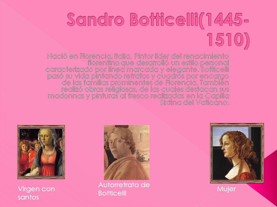 Autorretrato de Botticelli Virgen con santos Mujer