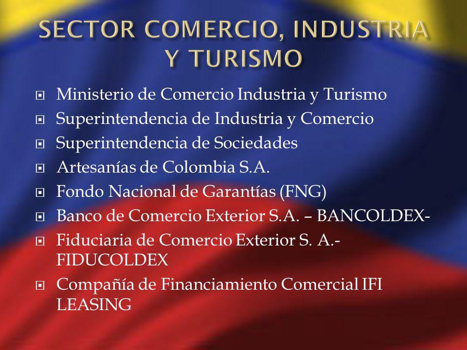 Ministerio de Comercio Industria y Turismo Superintendencia de Industria y Comercio Superintendencia de Sociedades Artesanías de Colombia S.A. Fondo N