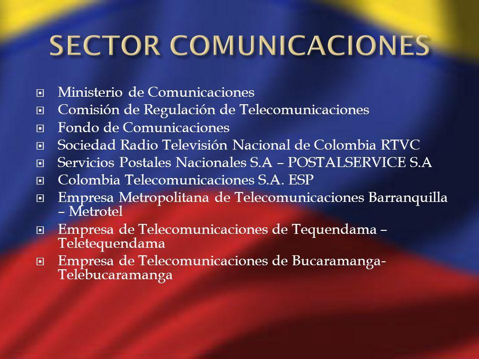 Ministerio de Comunicaciones Comisión de Regulación de Telecomunicaciones Fondo de Comunicaciones Sociedad Radio Televisión Nacional de Colombia RTVC