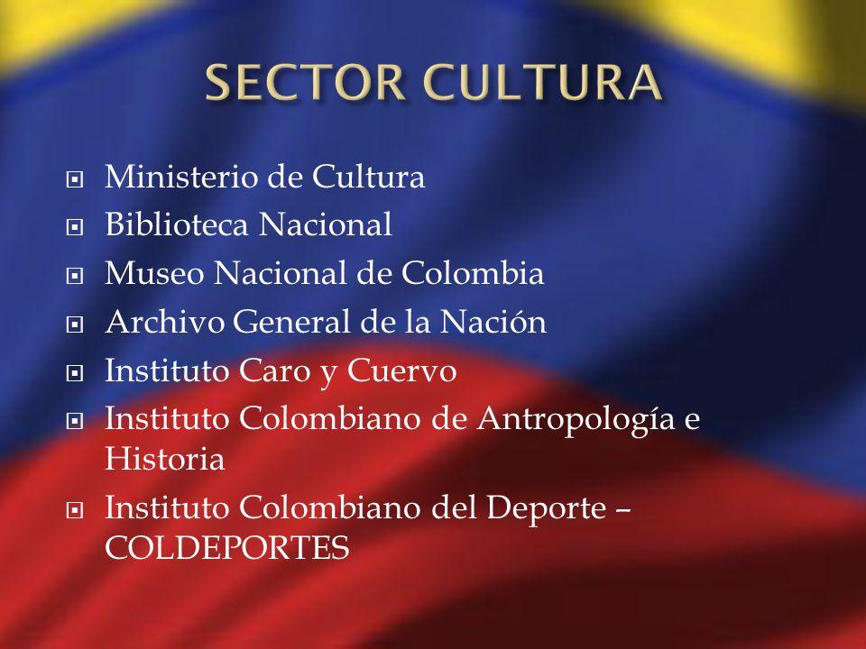 Ministerio de Cultura Biblioteca Nacional Museo Nacional de Colombia Archivo General de la Nación Instituto Caro y Cuervo Instituto Colombiano de Antr