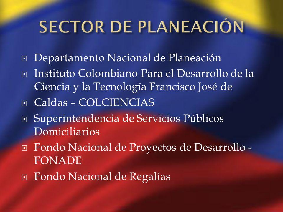 Departamento Nacional de Planeación Instituto Colombiano Para el Desarrollo de la Ciencia y la Tecnología Francisco José de Caldas – COLCIENCIAS Super