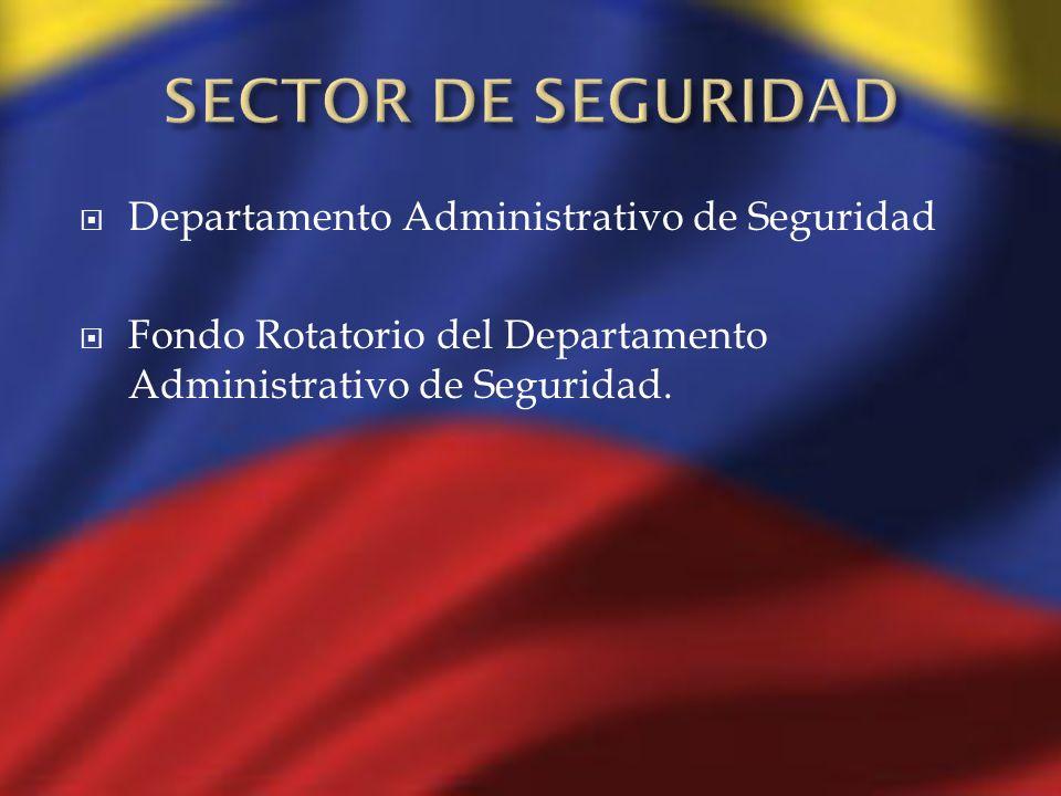 Departamento Administrativo de Seguridad Fondo Rotatorio del Departamento Administrativo de Seguridad.