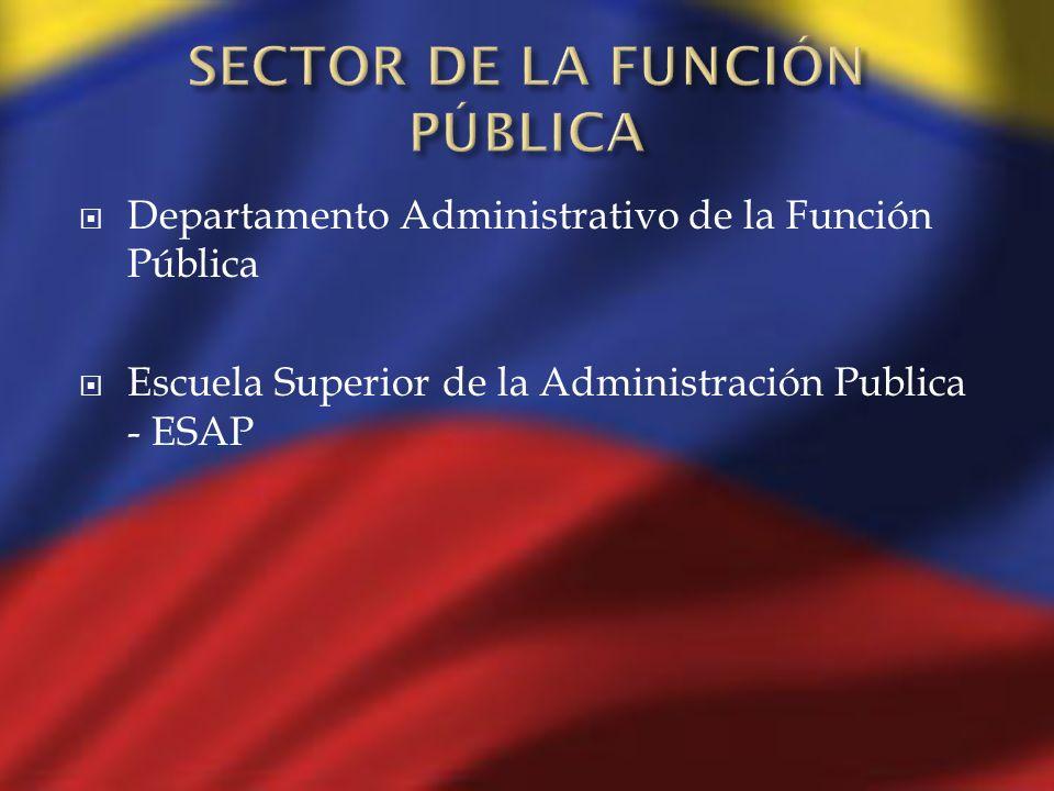 Departamento Administrativo de la Función Pública Escuela Superior de la Administración Publica - ESAP