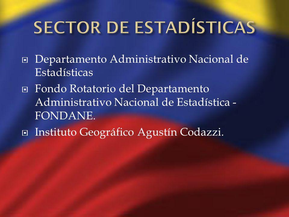 Departamento Administrativo Nacional de Estadísticas Fondo Rotatorio del Departamento Administrativo Nacional de Estadística - FONDANE. Instituto Geog