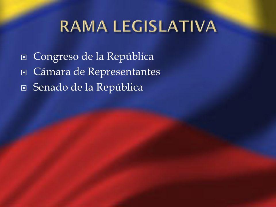 Congreso de la República Cámara de Representantes Senado de la República