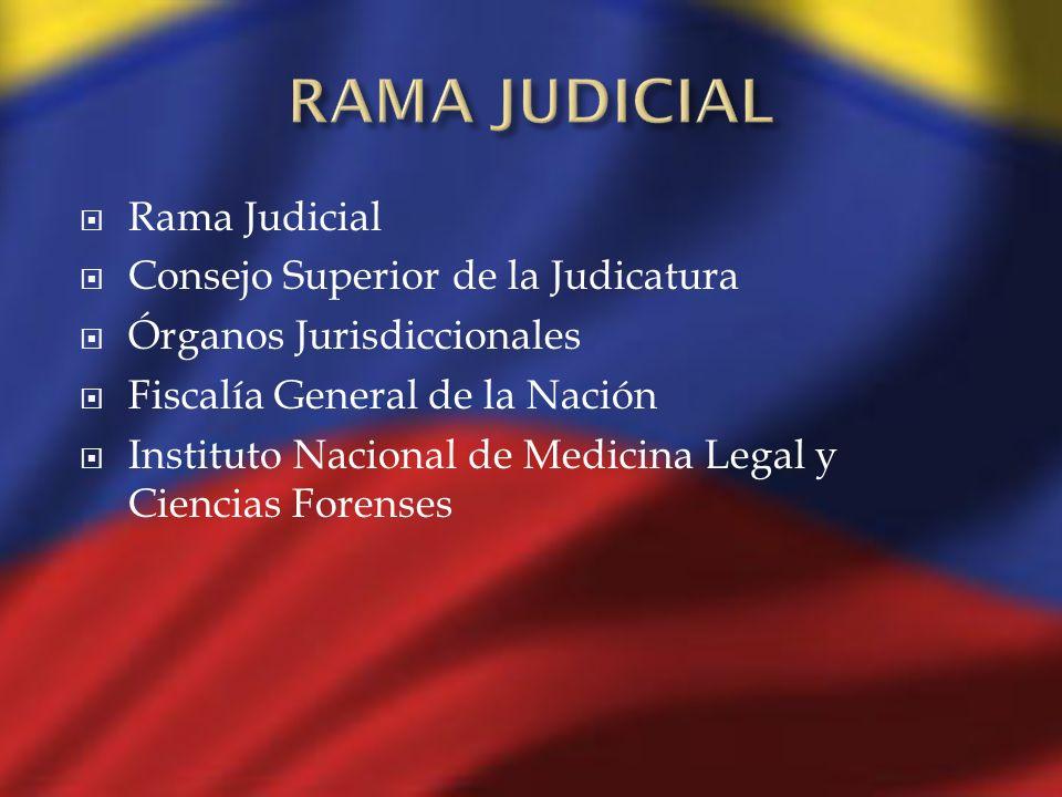Rama Judicial Consejo Superior de la Judicatura Órganos Jurisdiccionales Fiscalía General de la Nación Instituto Nacional de Medicina Legal y Ciencias