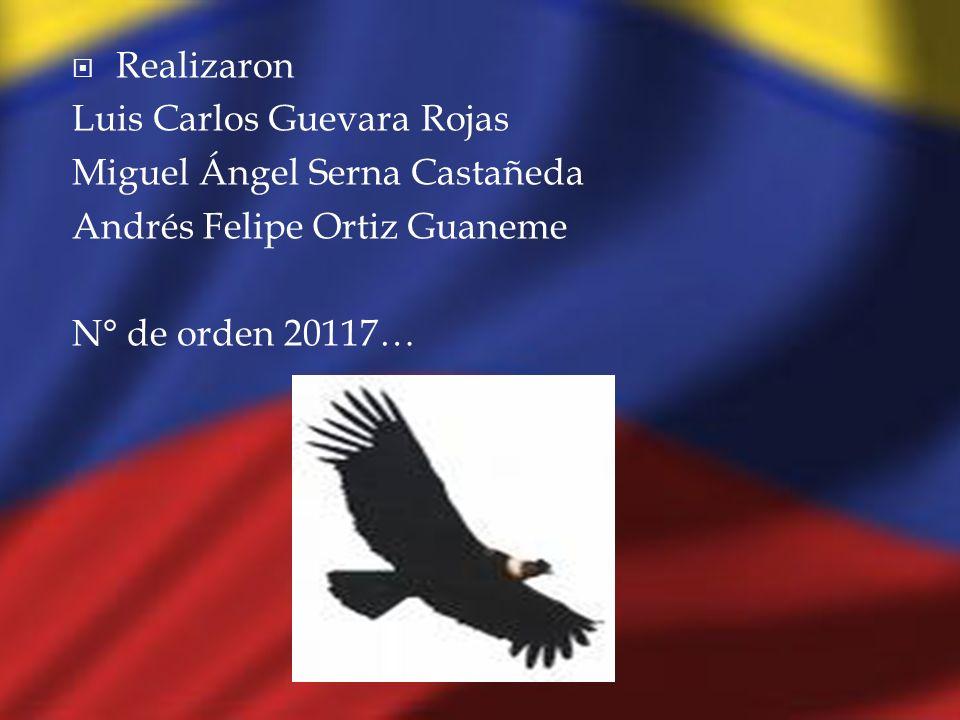 Realizaron Luis Carlos Guevara Rojas Miguel Ángel Serna Castañeda Andrés Felipe Ortiz Guaneme N° de orden 20117…