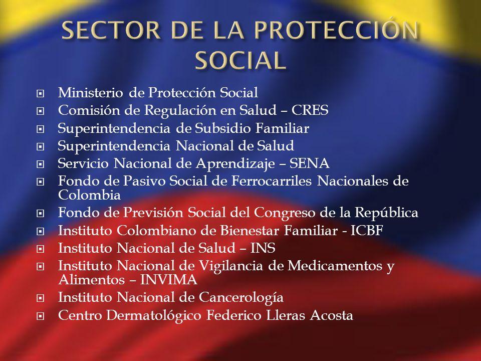 Ministerio de Protección Social Comisión de Regulación en Salud – CRES Superintendencia de Subsidio Familiar Superintendencia Nacional de Salud Servic
