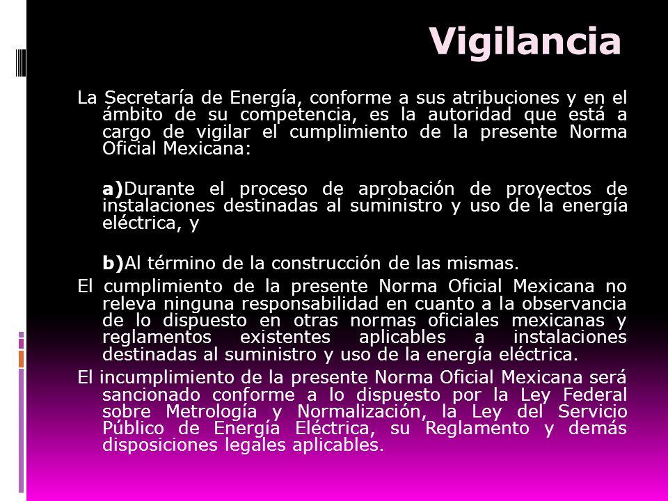 Vigilancia La Secretaría de Energía, conforme a sus atribuciones y en el ámbito de su competencia, es la autoridad que está a cargo de vigilar el cump