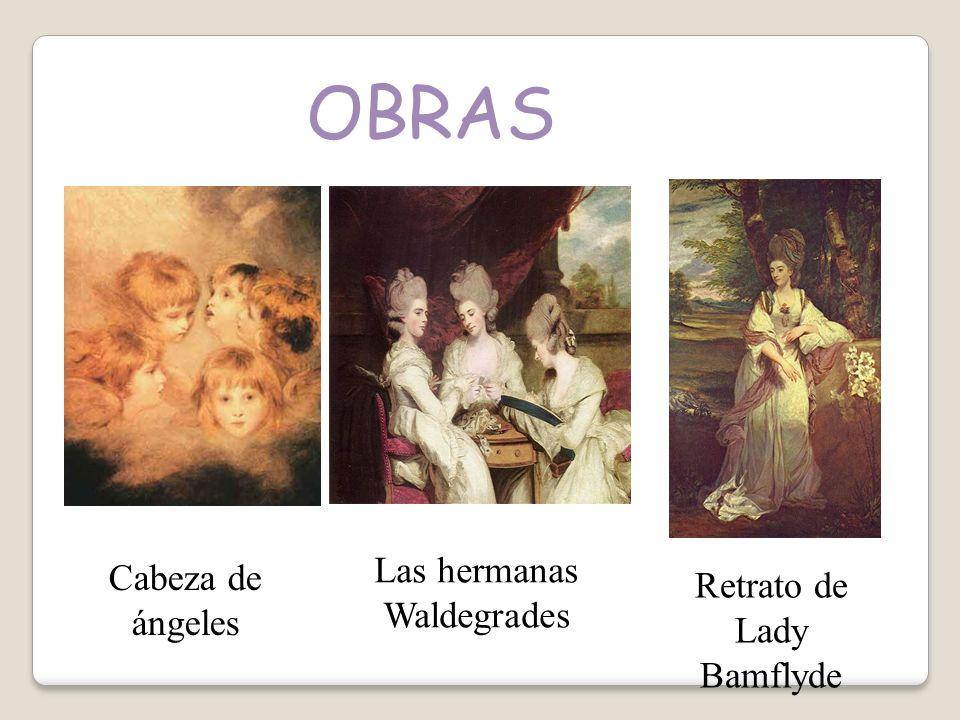 OBRAS Cabeza de ángeles Las hermanas Waldegrades Retrato de Lady Bamflyde