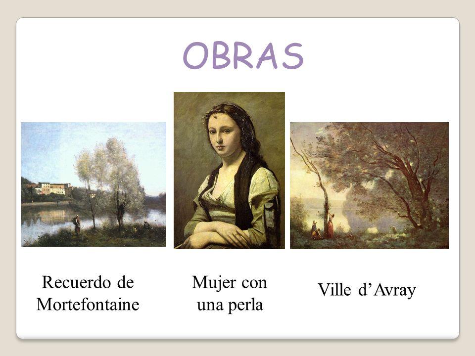 OBRAS Mujer con una perla Recuerdo de Mortefontaine Ville dAvray
