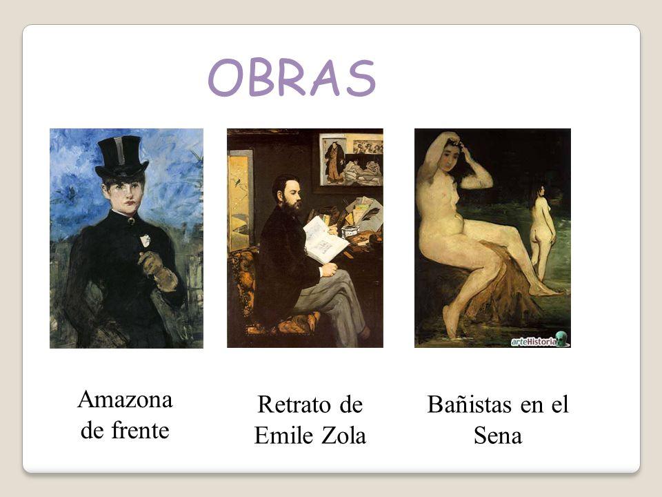 OBRAS Amazona de frente Retrato de Emile Zola Bañistas en el Sena