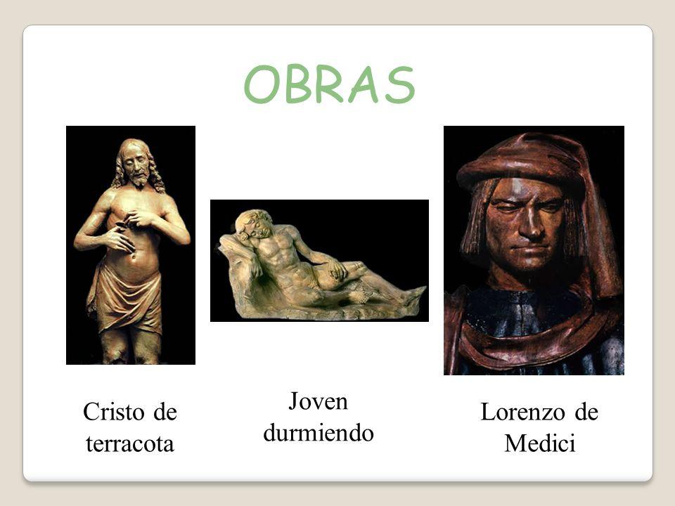 OBRAS Cristo de terracota Joven durmiendo Lorenzo de Medici