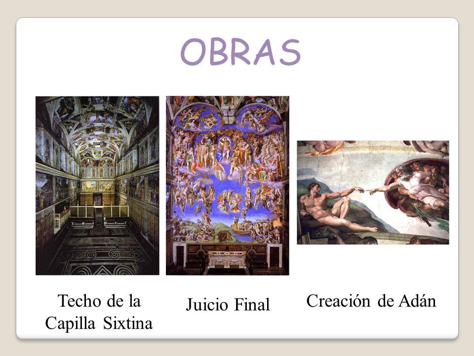 OBRAS Techo de la Capilla Sixtina Juicio Final Creación de Adán