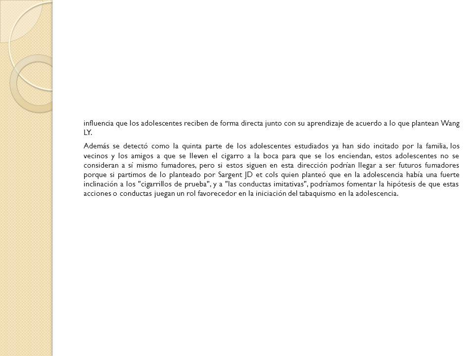 CLASIFICACIÓN DE LOS FUMADORES.