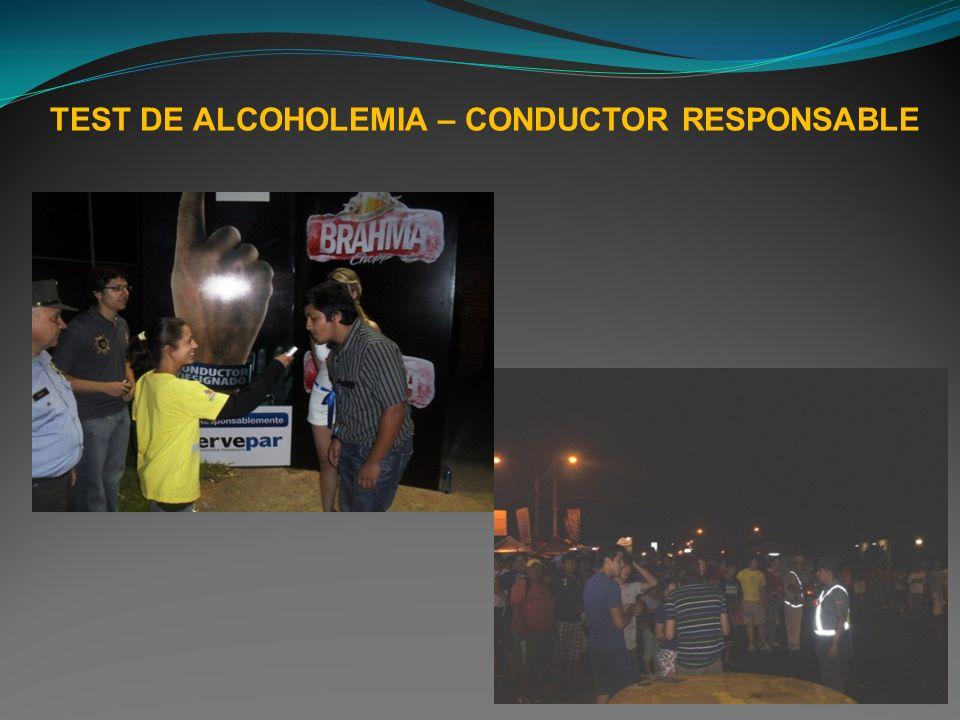 TEST DE ALCOHOLEMIA – CONDUCTOR RESPONSABLE