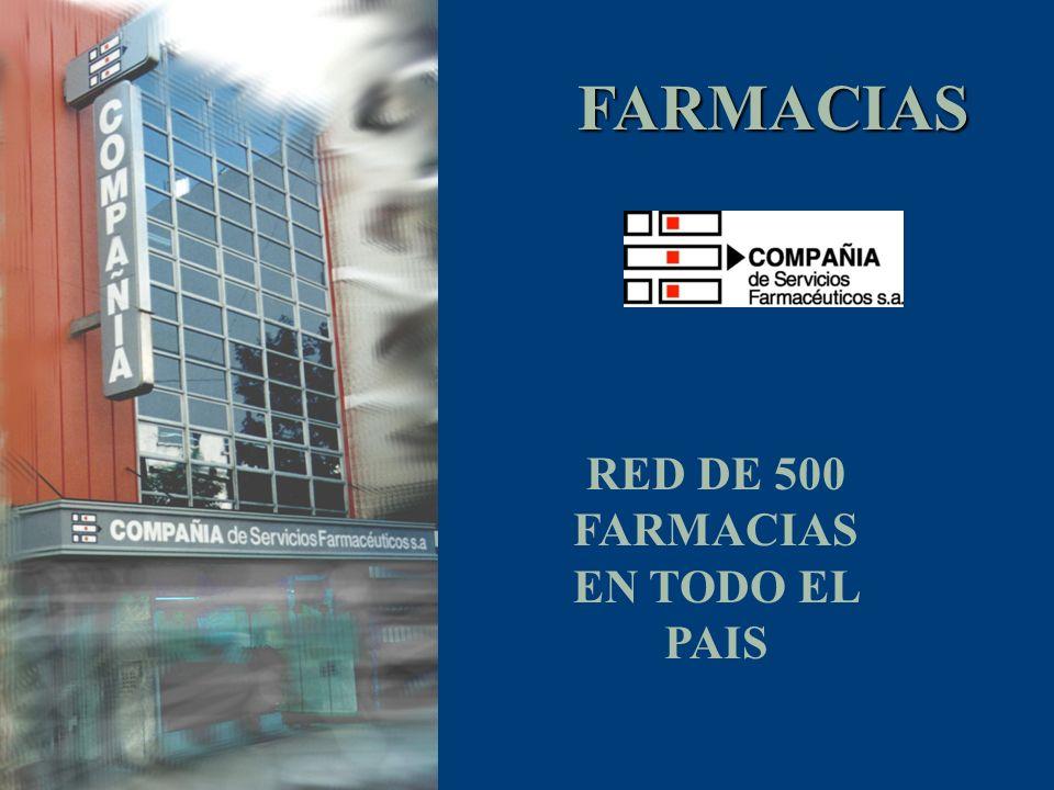 FARMACIAS RED DE 500 FARMACIAS EN TODO EL PAIS