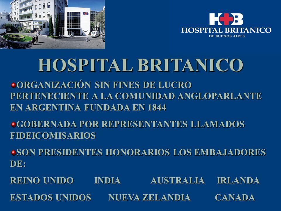 HOSPITAL BRITANICO ORGANIZACIÓN SIN FINES DE LUCRO PERTENECIENTE A LA COMUNIDAD ANGLOPARLANTE EN ARGENTINA FUNDADA EN 1844 GOBERNADA POR REPRESENTANTE