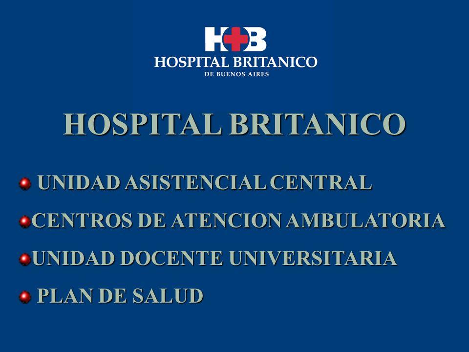HOSPITAL BRITANICO UNIDAD ASISTENCIAL CENTRAL UNIDAD ASISTENCIAL CENTRAL CENTROS DE ATENCION AMBULATORIA UNIDAD DOCENTE UNIVERSITARIA PLAN DE SALUD PL