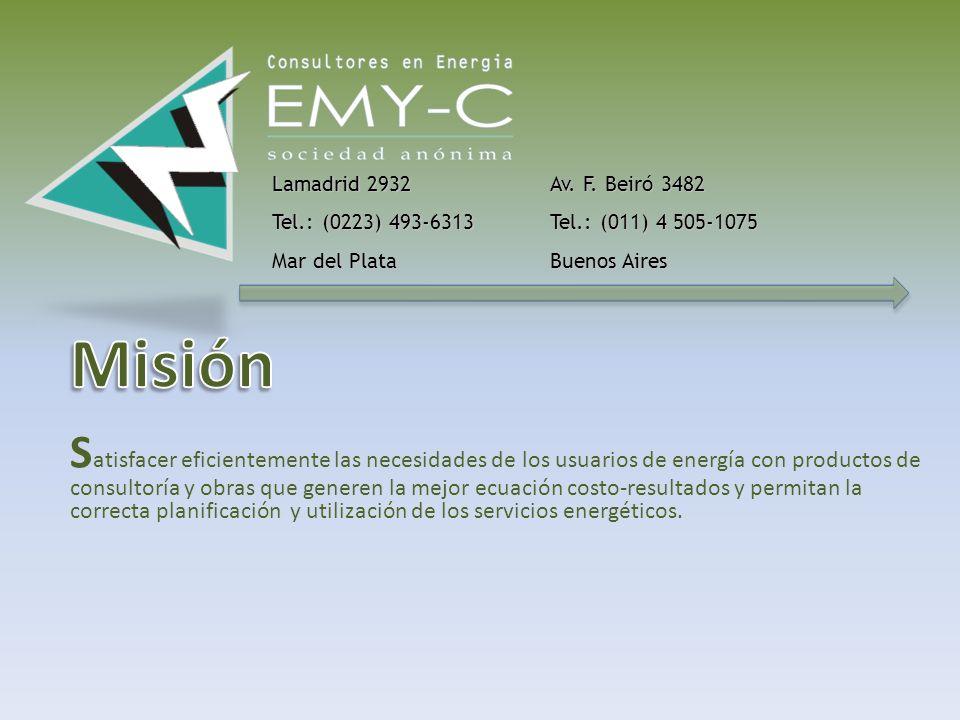 A partir del proceso de privatizaciones de las empresas de servicios públicos, un grupo de profesionales del sector energético se une, aprovechando la experiencia adquirida, para comenzar un camino que hoy tiene su sinergia concentrada en EMY-C S.A..