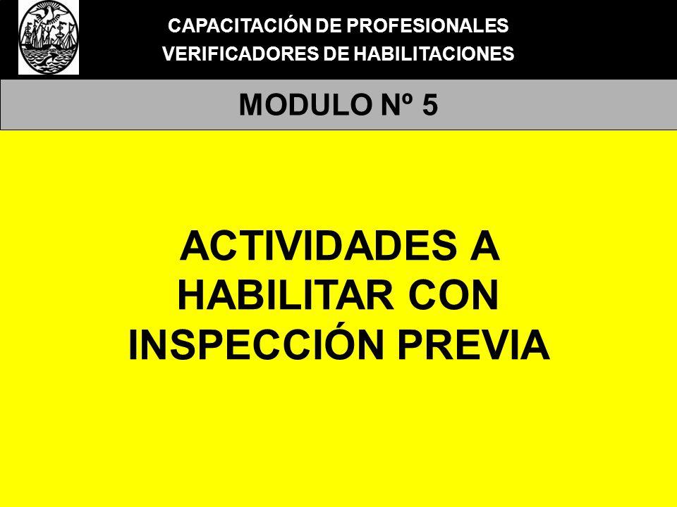 CAPACITACIÓN DE PROFESIONALES VERIFICADORES DE HABILITACIONES MODULO Nº 5 HABILITACIONES con INSPECCIÓN PREVIA TRAMITE DE HABILITACIÓN Conforme la normativa vigente en el Gobierno de la Ciudad es obligatorio solicitar la correspondiente habilitación administrativa para el ejercicio de toda actividad comercial y/o industrial en el ejido de la Ciudad Autónoma de Buenos Aires.