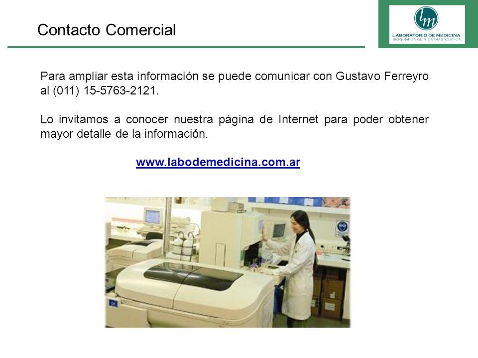 Contacto Comercial Para ampliar esta información se puede comunicar con Gustavo Ferreyro al (011) 15-5763-2121. Lo invitamos a conocer nuestra página
