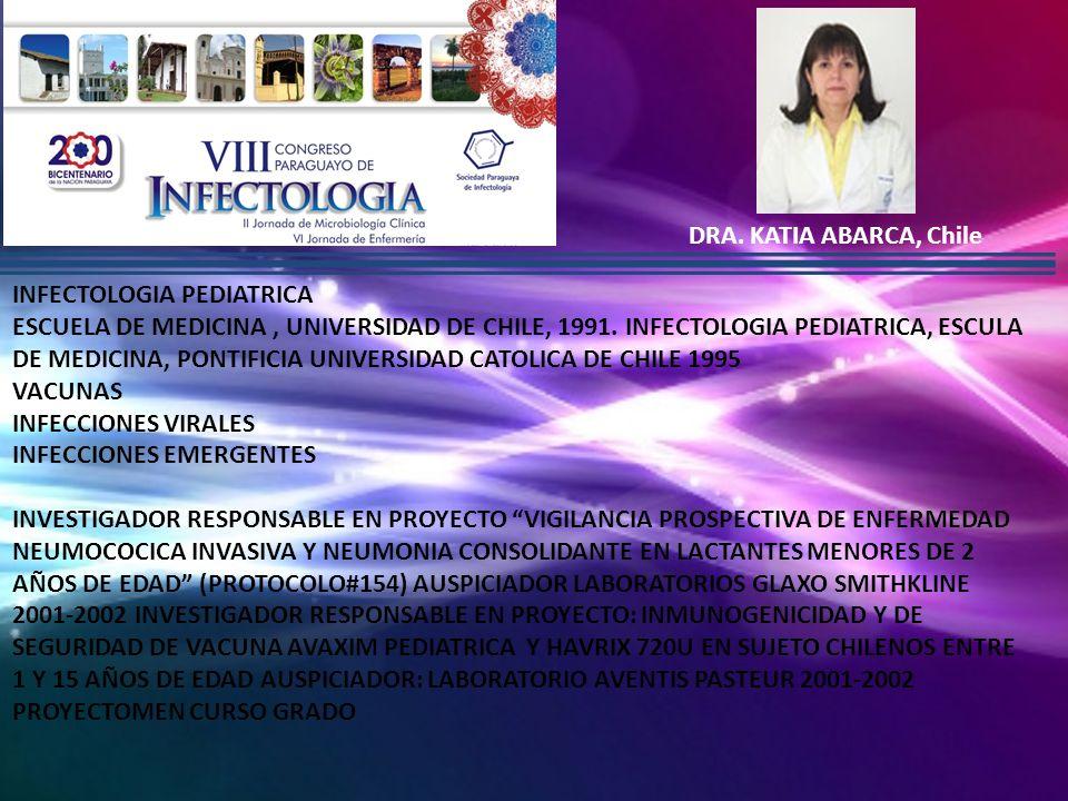 MARIA TERESA ROSANOVA, Argentina MEDICA PRINCIPAL DEL SERVICIO DE INFECTOLOGIA DE HOSPITAL J.P GARRAHAM INFECTOLOGA- PEDIATRA.