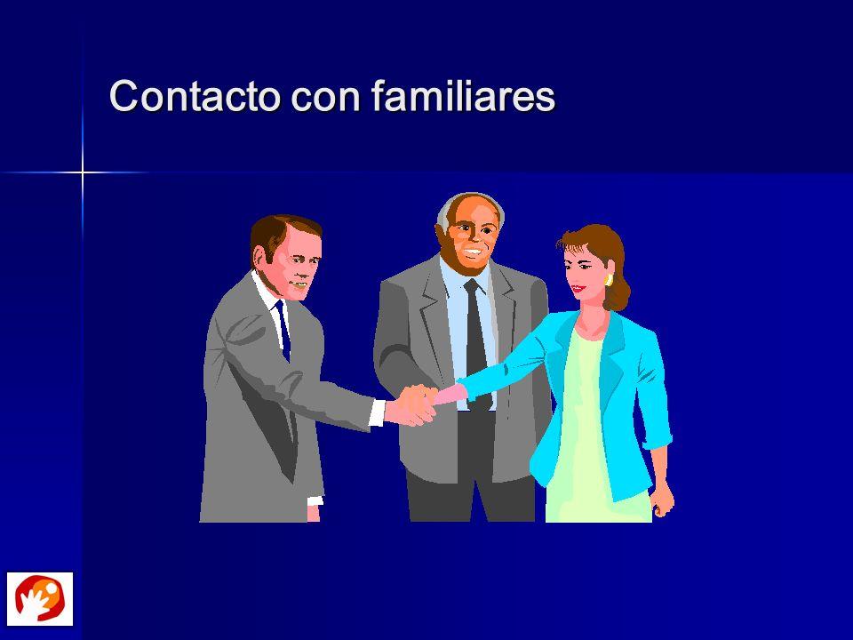 Contacto con familiares