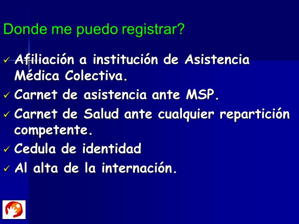 Donde me puedo registrar? Afiliación a institución de Asistencia Médica Colectiva. Afiliación a institución de Asistencia Médica Colectiva. Carnet de