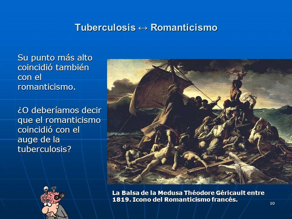 10 Tuberculosis Romanticismo Su punto más alto coincidió también con el romanticismo. ¿O deberíamos decir que el romanticismo coincidió con el auge de